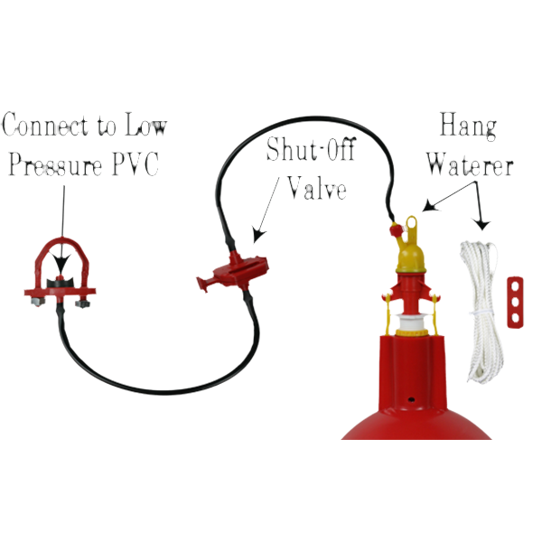 Automatic Hanging Waterer for Poultry Chickens