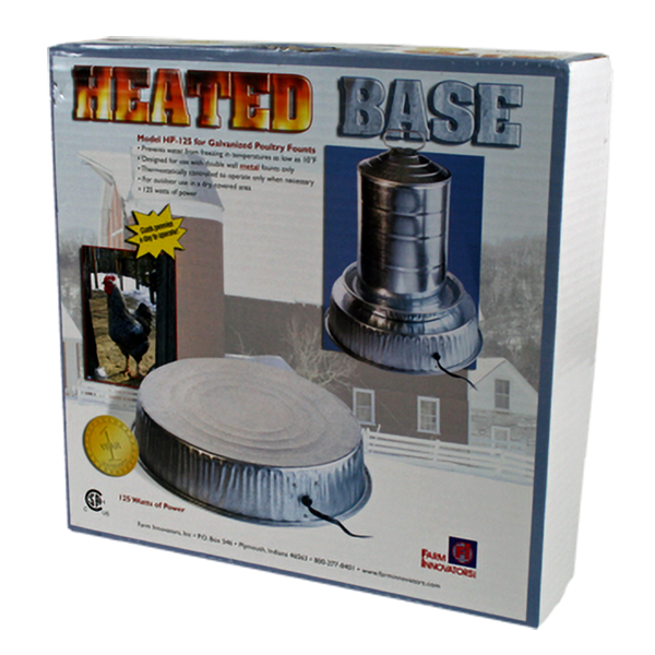 Heated Poultry Chicken Fountain Waterer Base