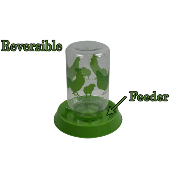 Reversible Chicken Feeder or Waterer