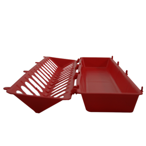 Plastic Flip Top Ground Chicken Feeder